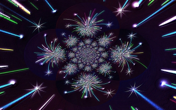 Abstracto - Fractal Fireworks Wallpapers and Backgrounds ID : 423257