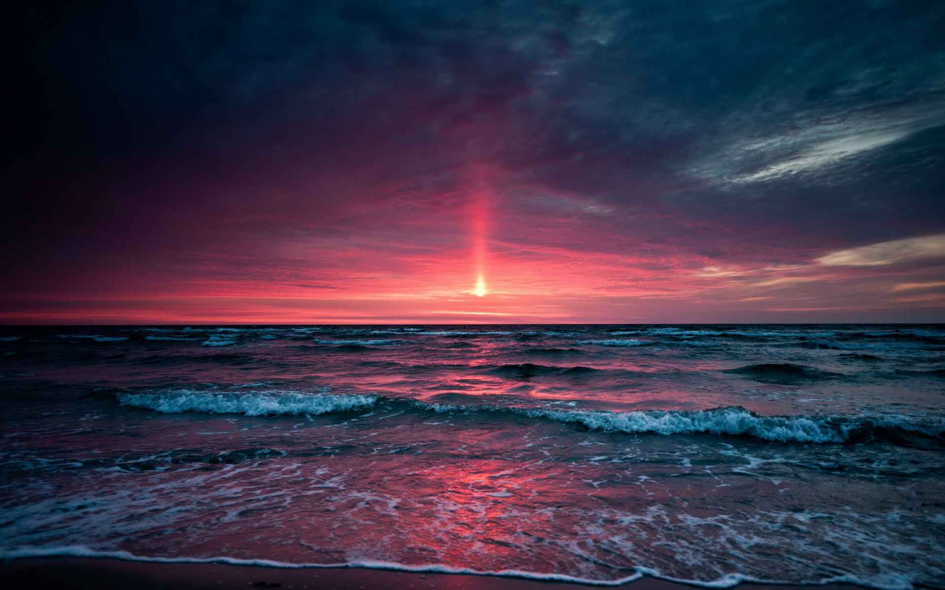 Superb sunset HD wallpaper