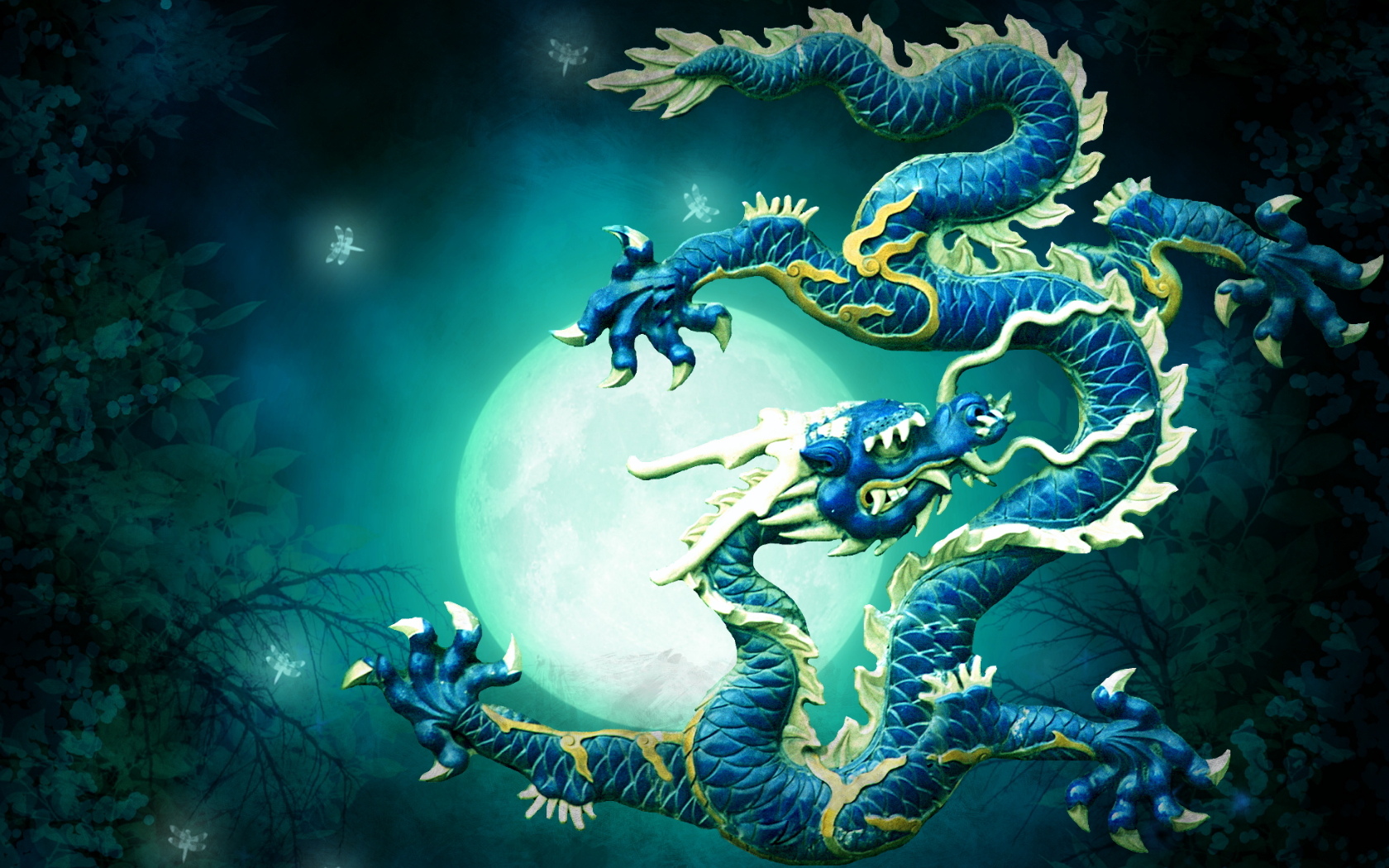 Blue Dragon Wallpaper And Background Image