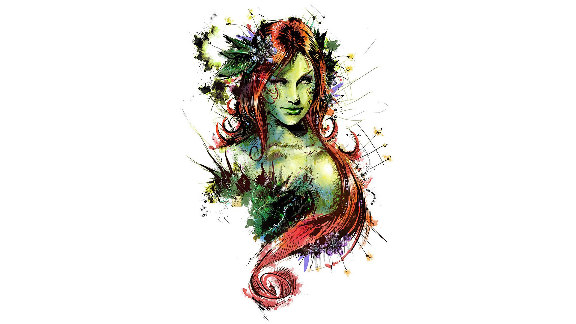 poison ivy computer wallpaper desktop background