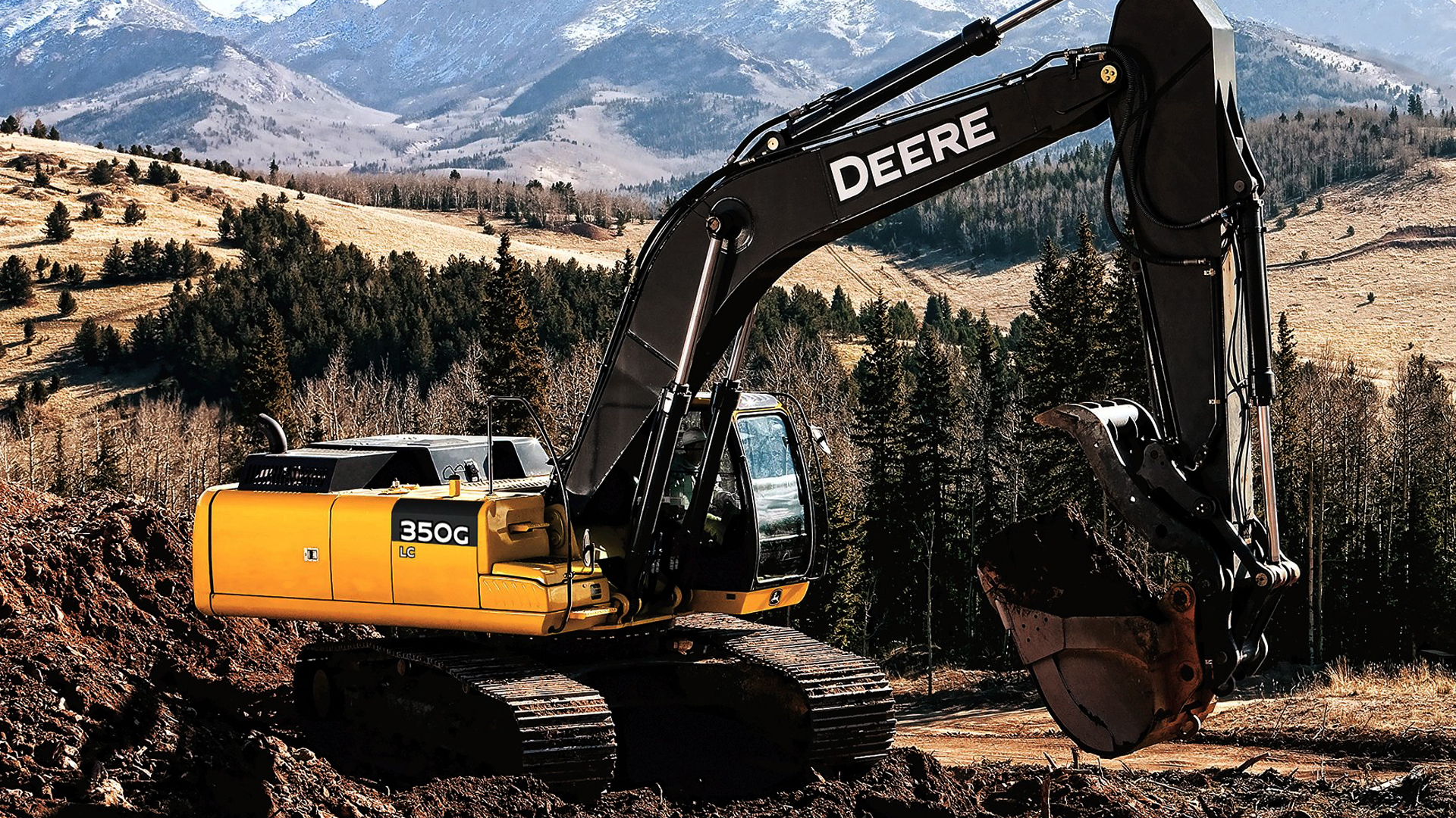 2 John Deere 350G Excavator HD Wallpapers | Backgrounds ...