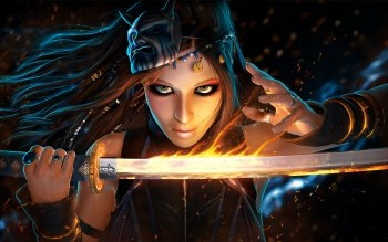 Fantasy - Women Warrior Wallpapers and Backgrounds ID : 436463