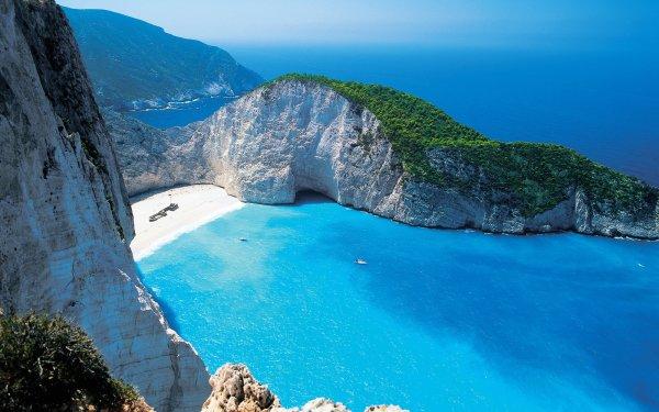 Earth Beach Greece Mediterranean Sea Tirquoise HD Wallpaper | Background Image
