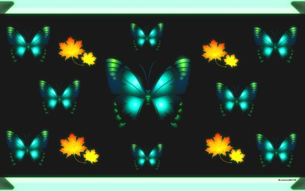 Artistic Butterfly Leaf HD Wallpaper | Background Image