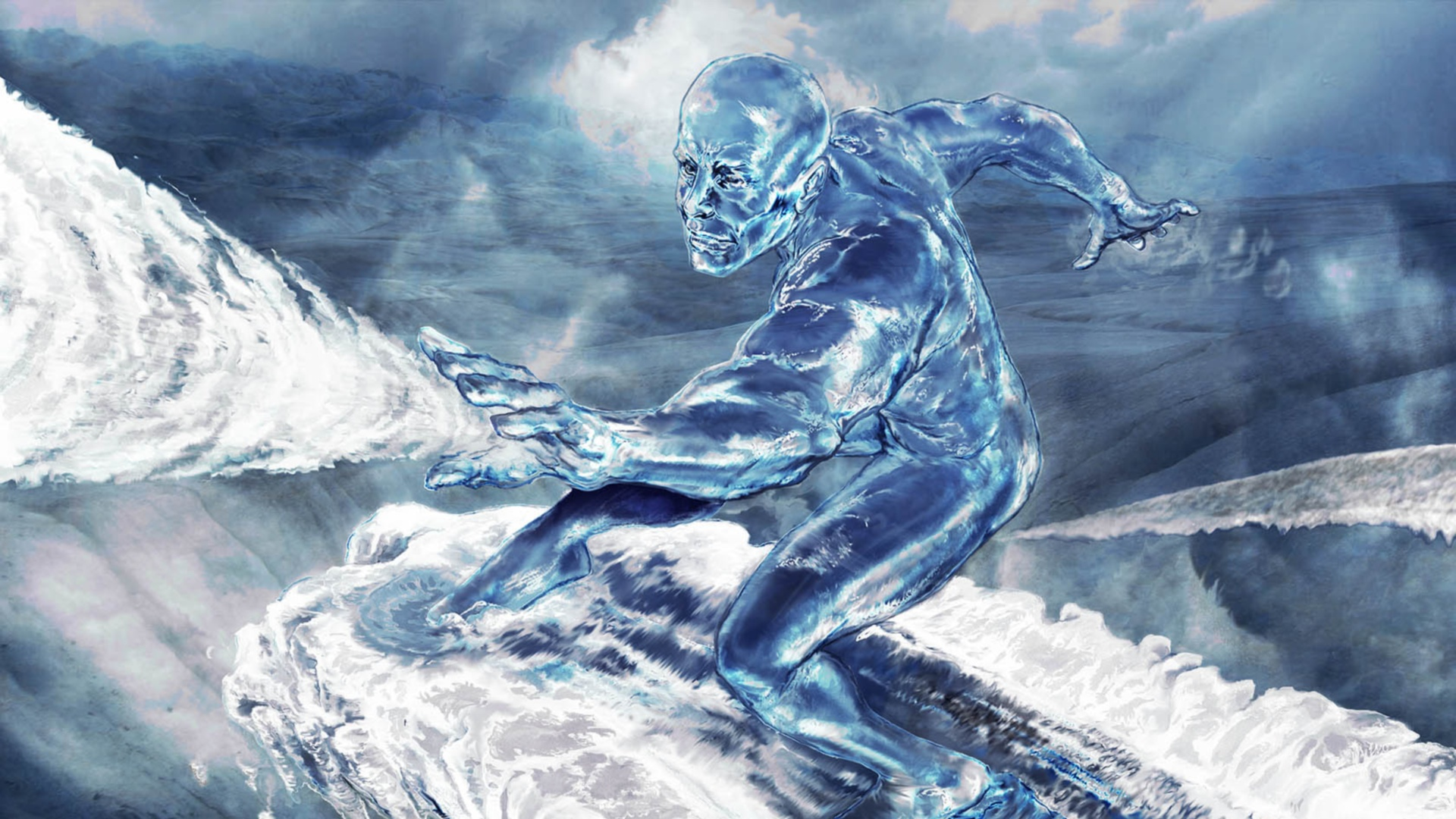Silver surfer full hd wallpaper and background image for Silver 3d wallpaper