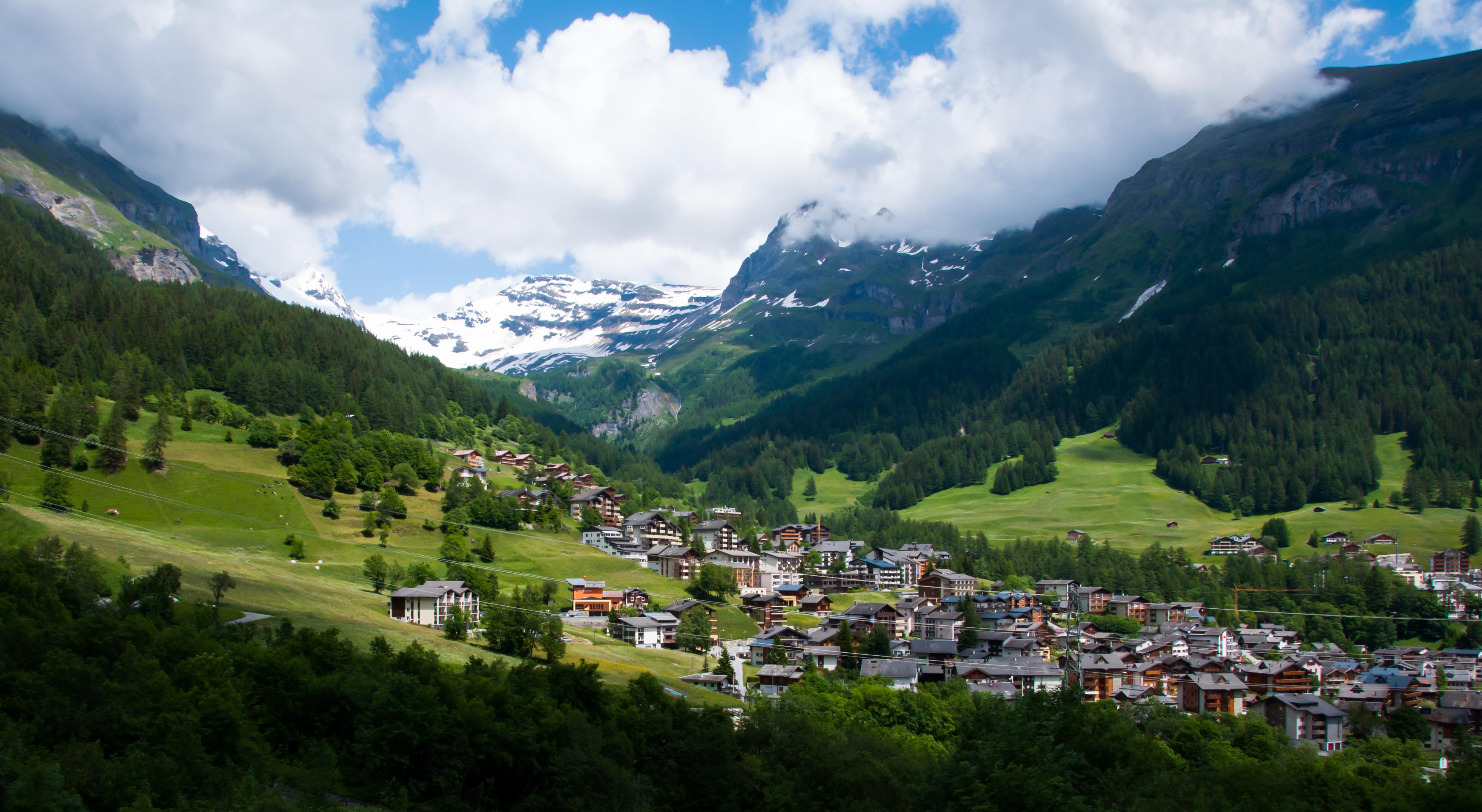 Village In Switzerland 4 Hd Wallpaper Background Image