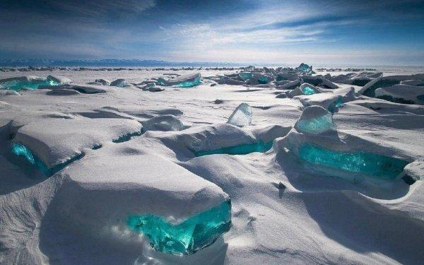 Tierra/Naturaleza Hielo Turquesa Rusia Fondo de pantalla HD | Fondo de Escritorio