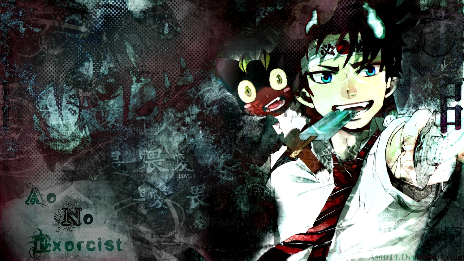 Blue exorcist wallpaper and background image 1500x844 - Blue anime wallpaper ...