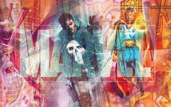 Comics Marvel Comics Castigador Daredevil Ghost Rider Logo Doctor Strange Fondo de pantalla HD | Fondo de Escritorio