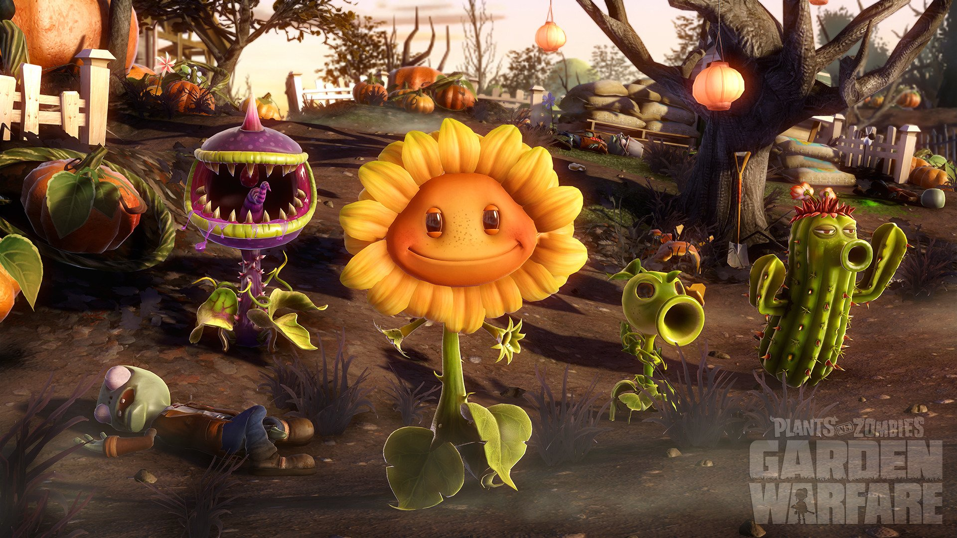 4 Sunflower Plants Vs Zombies Hd Wallpapers Background Images