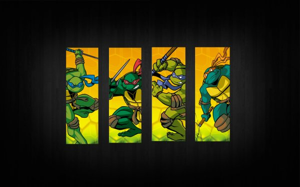 TV Show Teenage Mutant Ninja Turtles TMNT Leonardo Raphael Donatello Michelangelo HD Wallpaper | Background Image