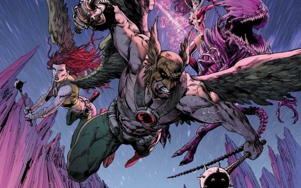 Comics Brightest Day Hawkman Hawkgirl Wings Mace DC Comics Shiera Sanders Carter Hall Star Sapphire HD Wallpaper | Background Image