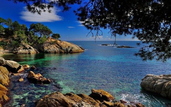 Earth Coastline Coast Spain Catalonia Sea HD Wallpaper | Background Image