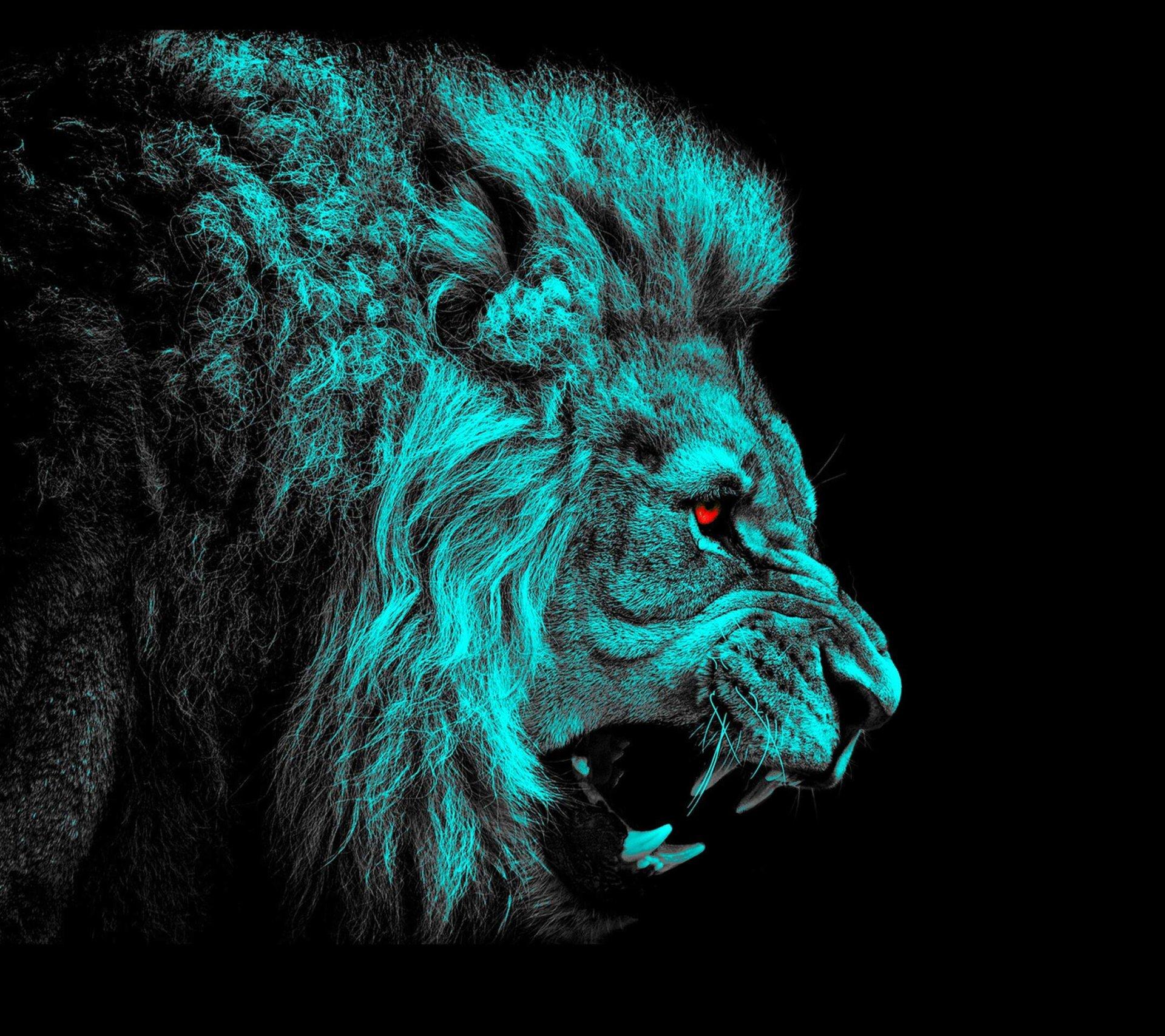Animal - Lion  Red Eyes Wallpaper