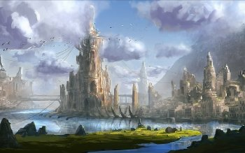 Fantasy - City Wallpapers and Backgrounds ID : 454425