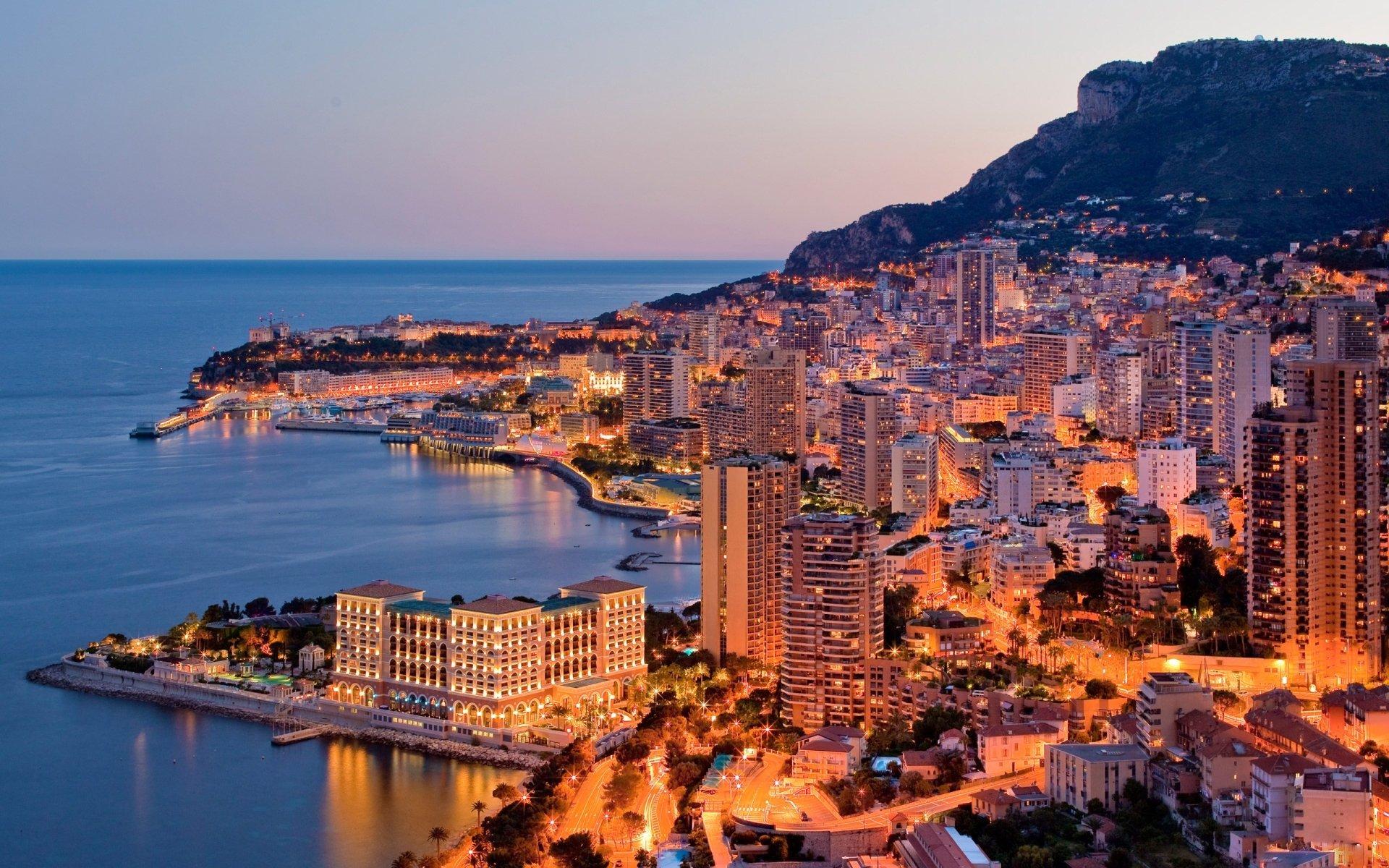 Man Made - Monaco  Landscape City Ocean Wallpaper