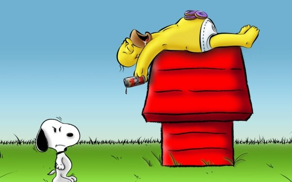 TV Show The Simpsons Homer Simpson Snoopy HD Wallpaper   Background Image