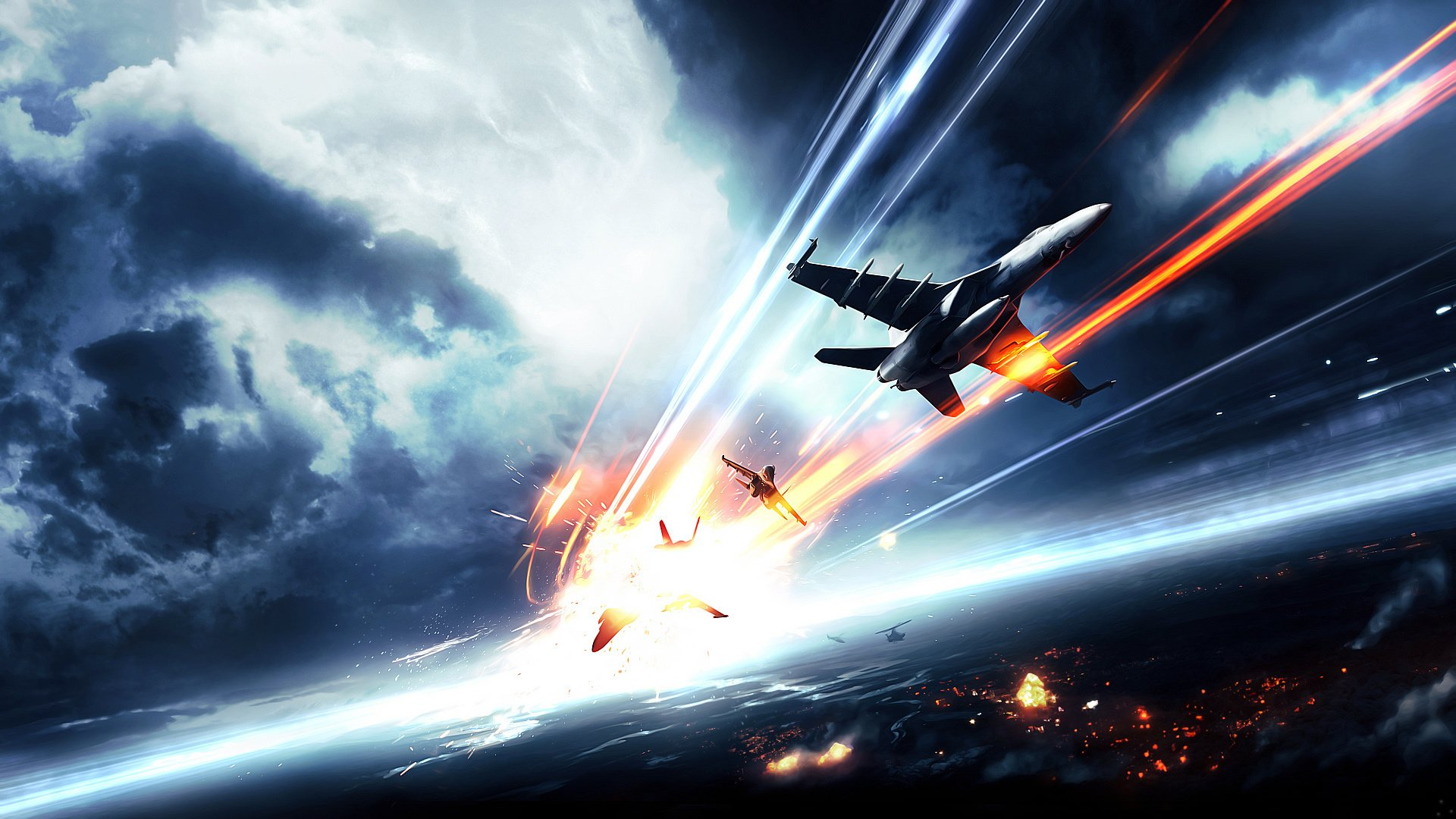 Video Game - Battlefield 4  Battlefield Aircraft Airplane Dogfight Military Jet Fighter Wallpaper
