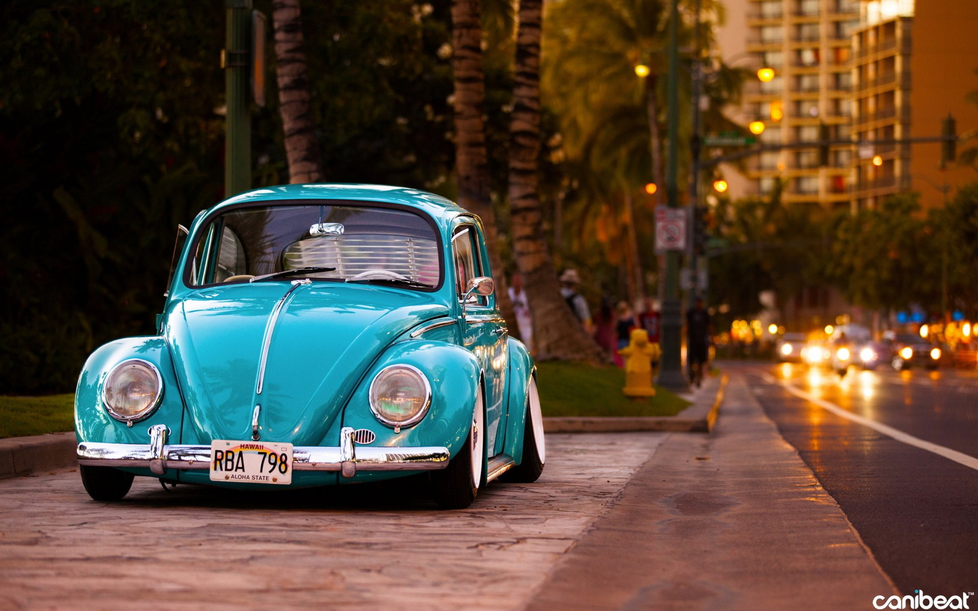 Vehicles - Volkswagen Beetle  City Blue Car Street Car Wallpaper