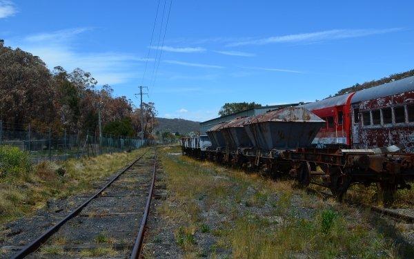 Vehicles Hopper Car Train Lithgow Railroad HD Wallpaper | Background Image