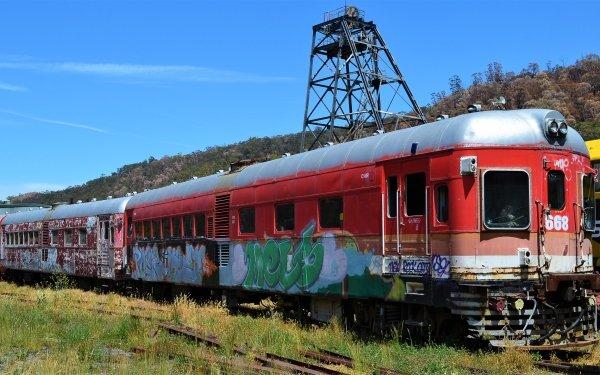 Vehicles Train Lithgow Railcar Australia Graffiti HD Wallpaper | Background Image