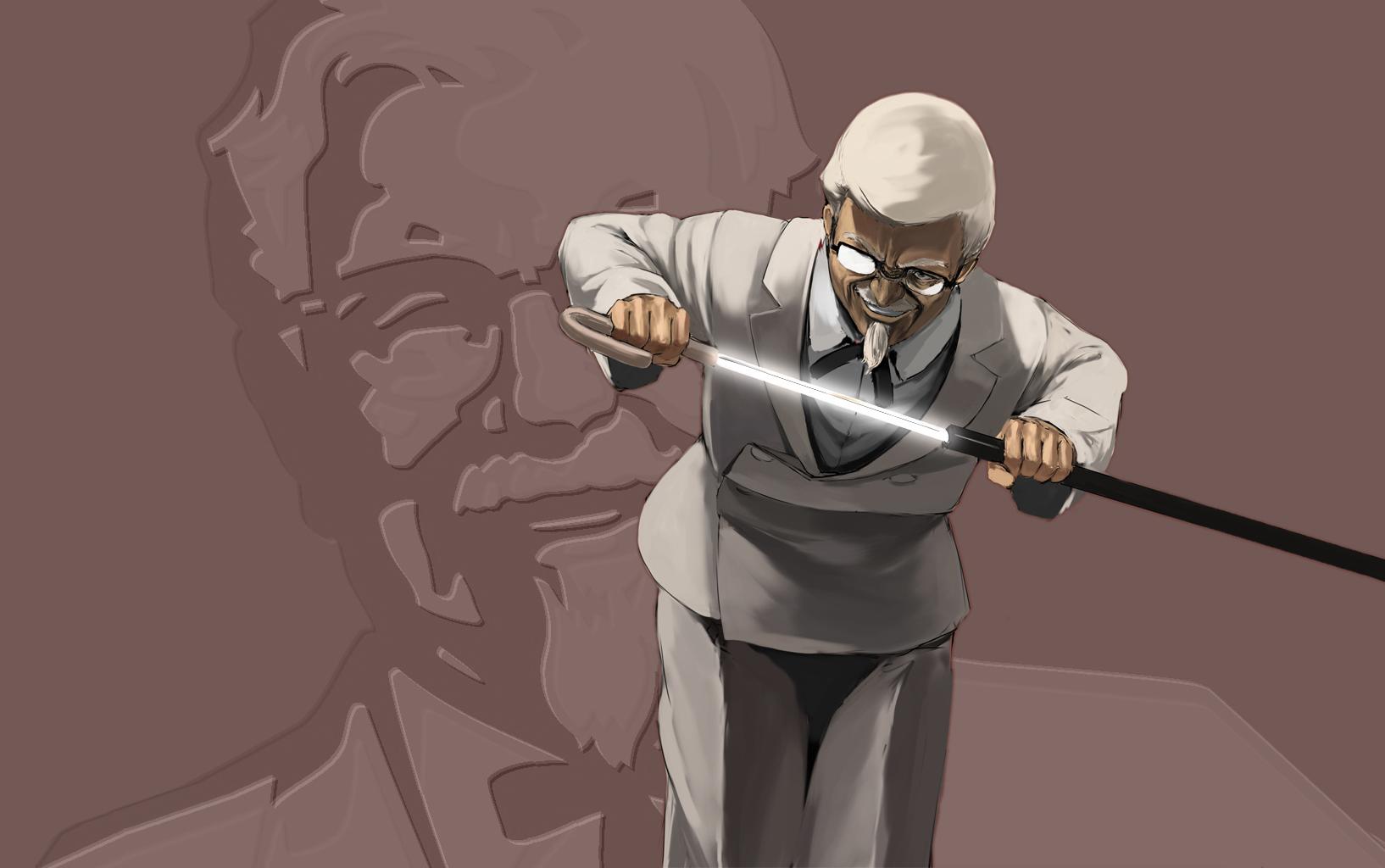 Men - Colonel Sanders  Wallpaper