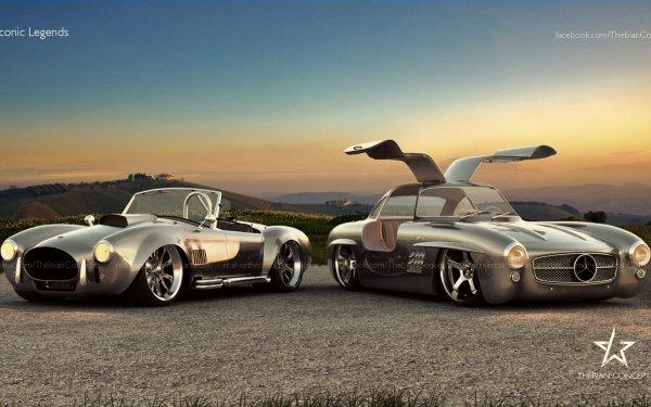 Véhicules Classique Mercedes-Benz 300 SL Cobra Mercedes-Benz Shelby Cobra Fond d'écran HD | Image