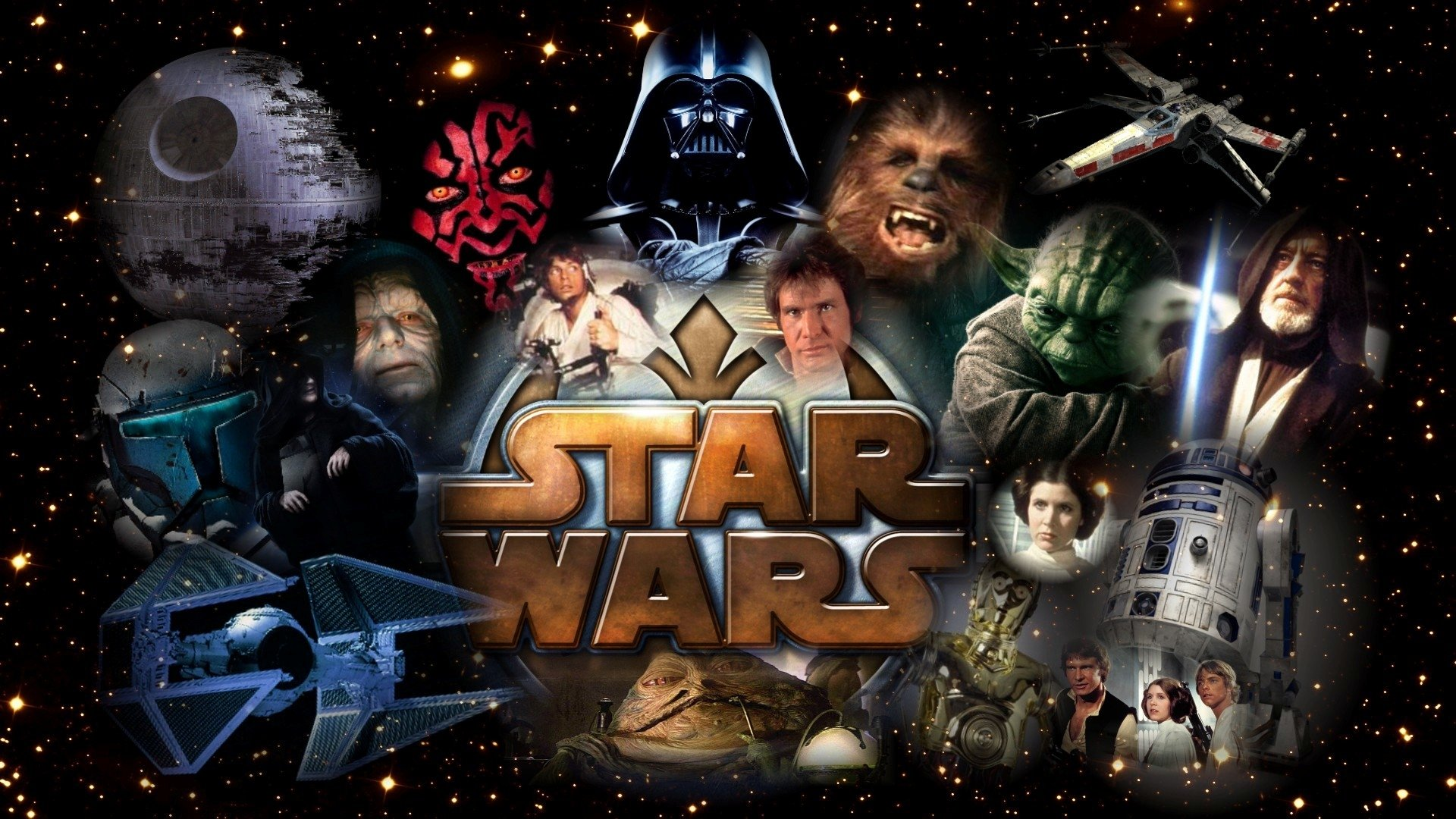 Movie - Star Wars  Darth Vader Darth Maul Yoda R2-D2 Obi-Wan Kenobi X-Wing TIE Fighter Death Star Alec Guinness Chewbacca Wallpaper