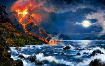 Earth - Volcano Wallpapers and Backgrounds ID : 465633