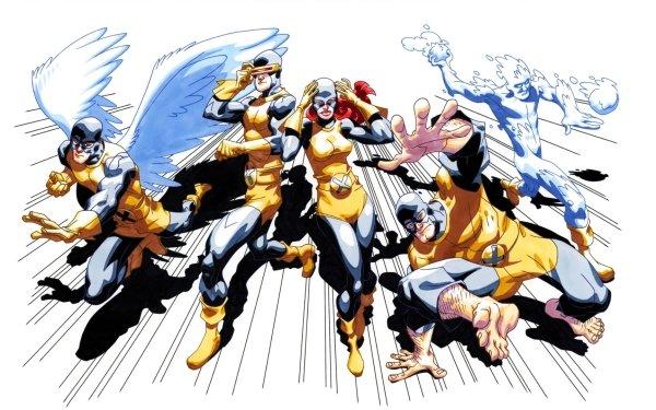 Comics X-Men Cyclops Iceman Jean Grey Angel Beast Marvel Girl Warren Worthington III Original X-Men HD Wallpaper   Background Image