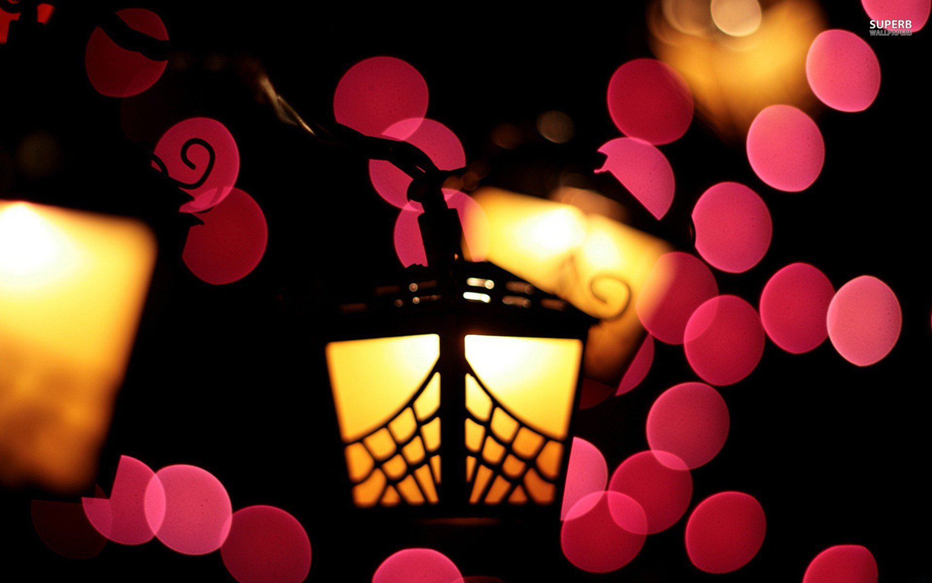 Man Made - Lantern  Light Wallpaper