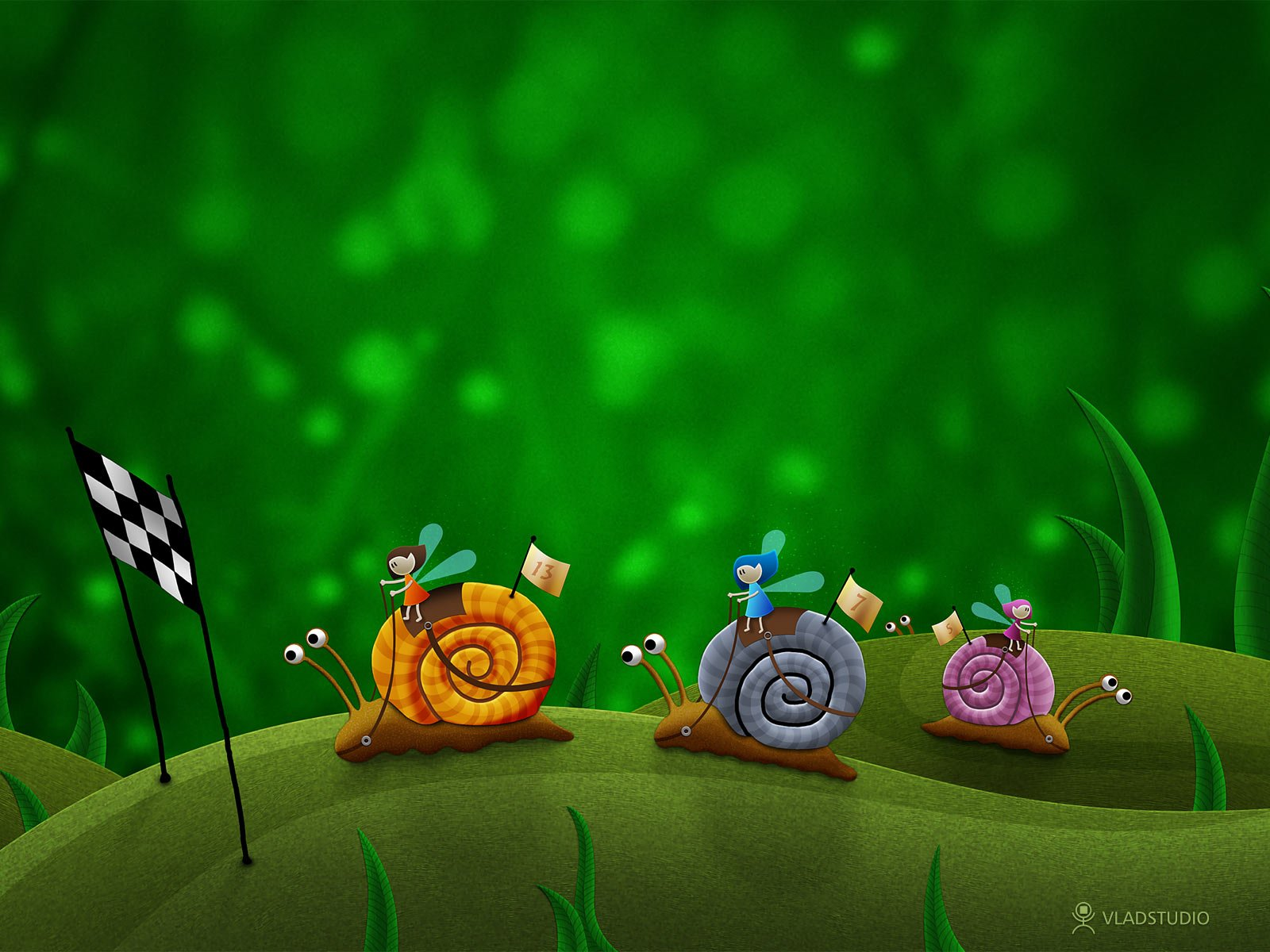 Fantasy   Animal Snail Wallpaper