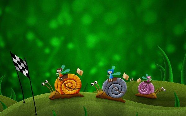 Fantasy Animal Fantasy Animals Snail HD Wallpaper   Background Image