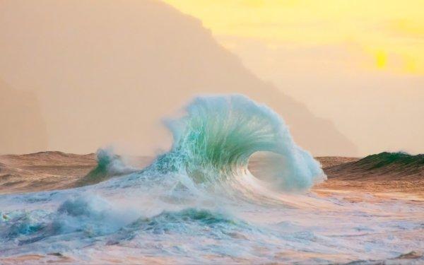 Earth Wave Seascape HD Wallpaper | Background Image