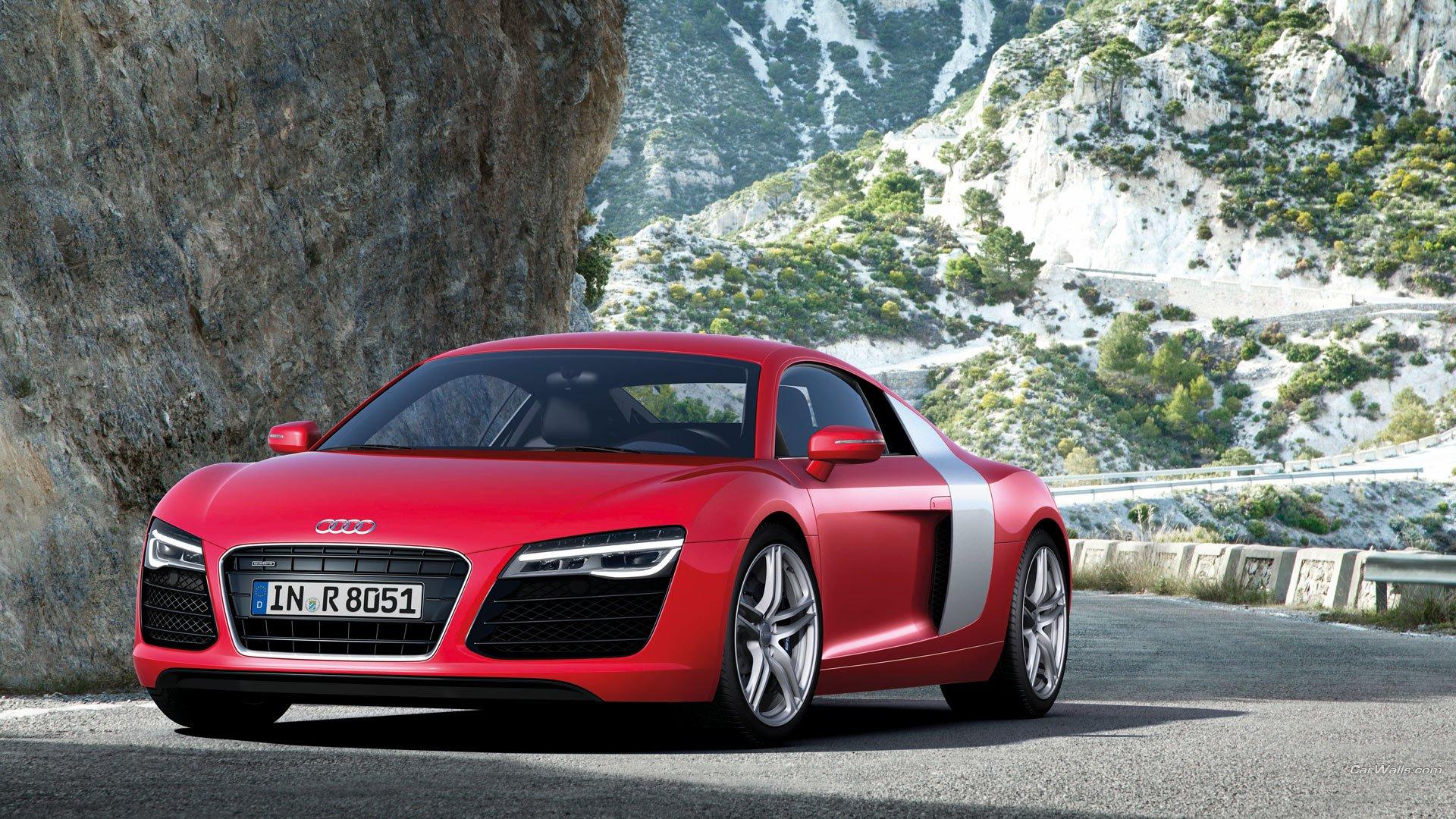 Vehicles - Audi R8  Audi Supercar Car Red Car Vehicle Wallpaper