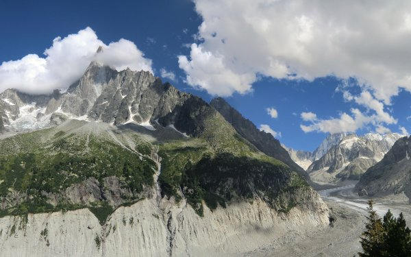 Earth Mountain Mountains Alps Glacier HD Wallpaper   Background Image