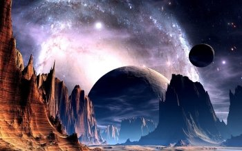 Science Fiction - Planet Rise Wallpapers and Backgrounds