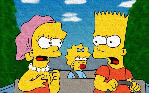 TV Show The Simpsons Lisa Simpson Maggie Simpson Bart Simpson HD Wallpaper | Background Image