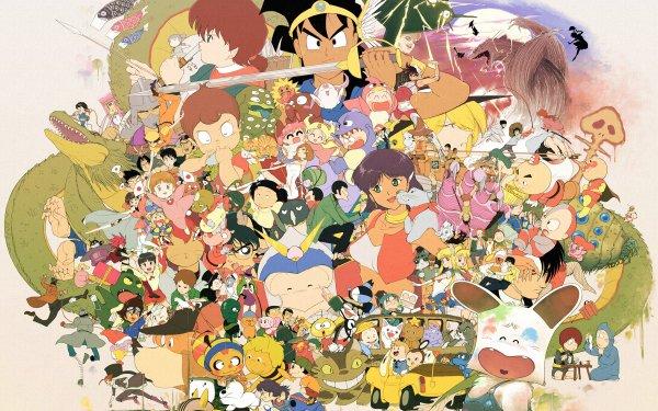 Anime Crossover Digimon Dragon Ball Détective Conan Hunter x Hunter Sailor Moon Inspector Gadget Fond d'écran HD | Arrière-Plan