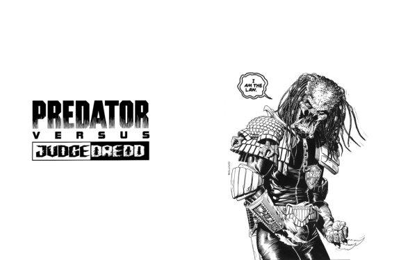 Comics Predator Vs Judge Dredd Judge Dredd Predator Dredd HD Wallpaper | Background Image