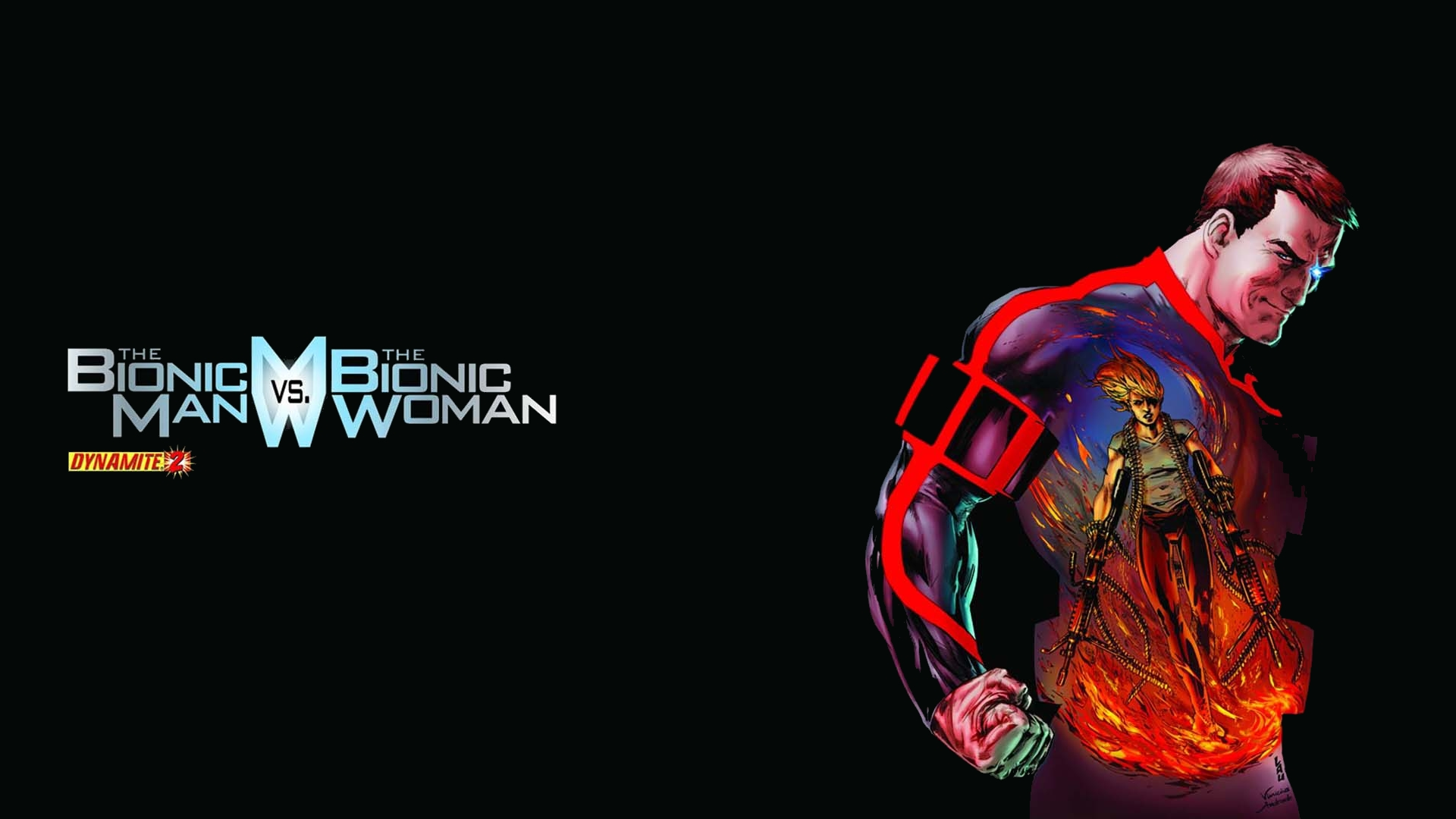 The Bionic Man Vs The Bionic Woman Full HD Wallpaper and ...