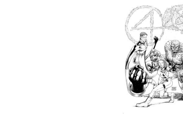 Bande-dessinées Les 4 Fantastiques Mister Fantastic Human Torch Invisible Woman Thing Marvel Comics Ben Grimm Reed Richards Susan Storm Johnny Storm Fond d'écran HD | Image