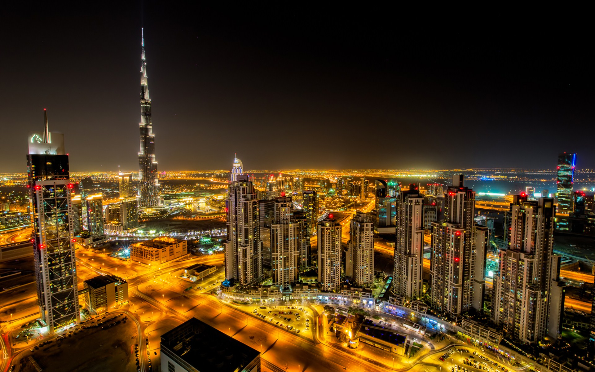 dubai a city of heavenly lights full hd wallpaper and background