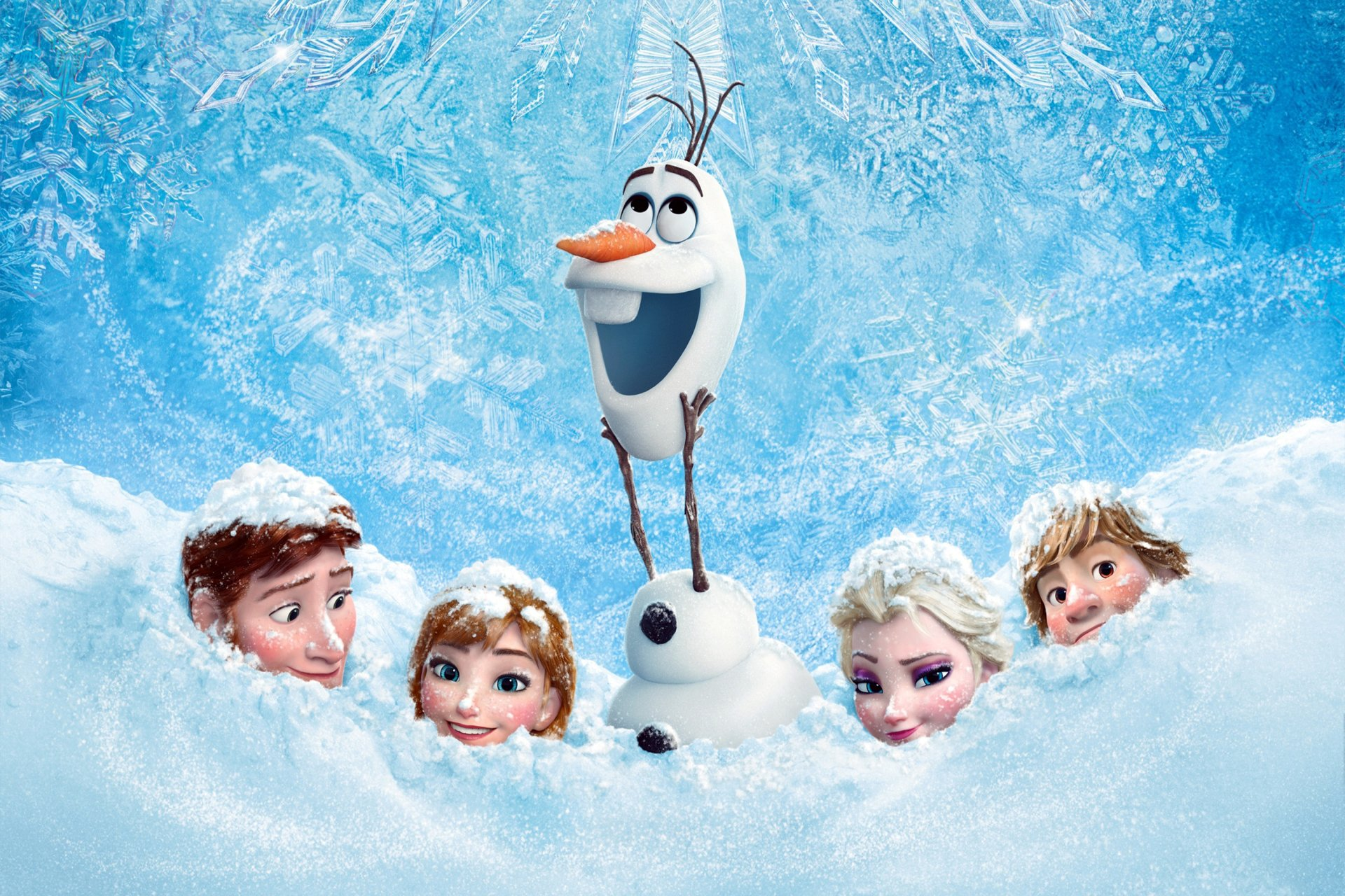Movie - Frozen  Olaf (Frozen) Elsa (Frozen) Anna (Frozen) Hans (Frozen) Kristoff (Frozen) Wallpaper
