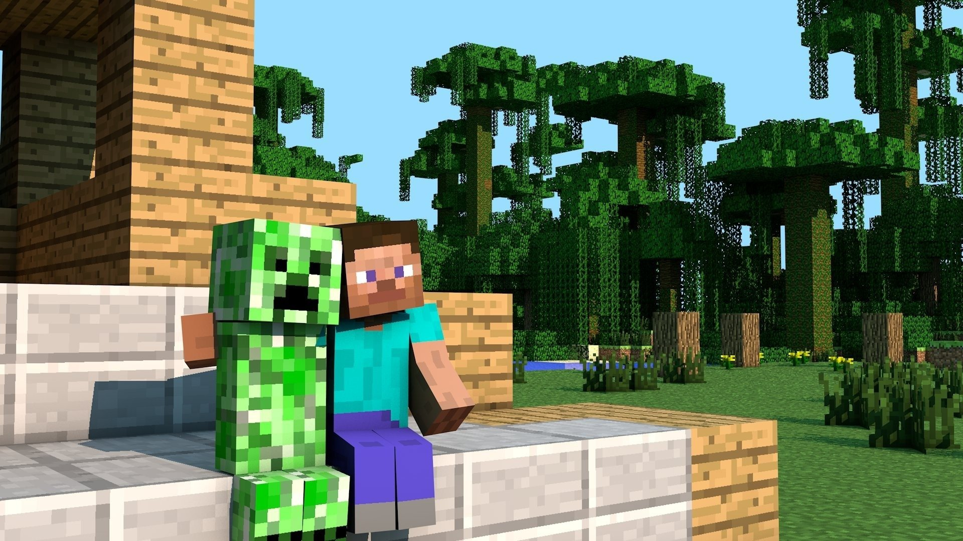 Video Game - Minecraft  Video Game Creeper (Minecraft) Steve (Minecraft) Wallpaper