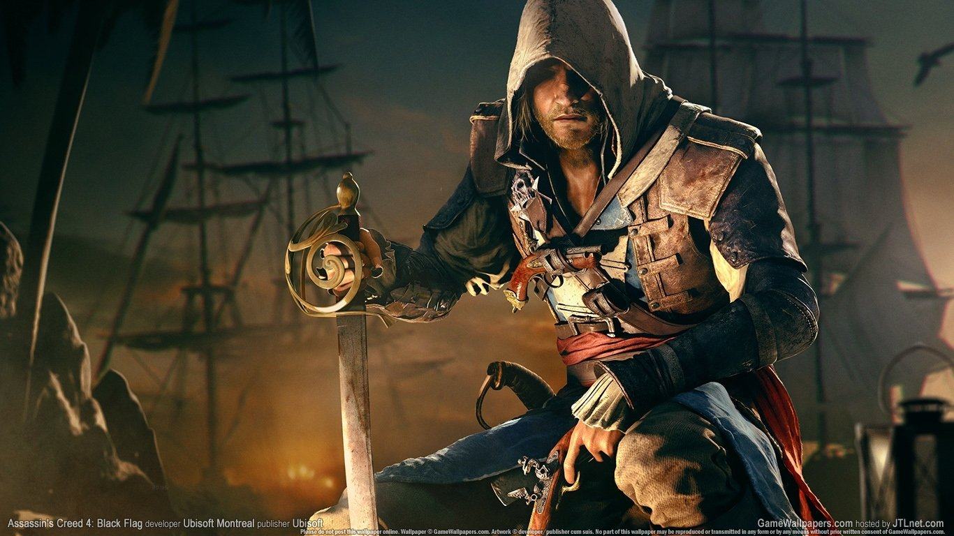 Assassins creed 4 wallpaper and background image 1366x768 id481252 video game assassins creed iv black flag wallpaper voltagebd Image collections