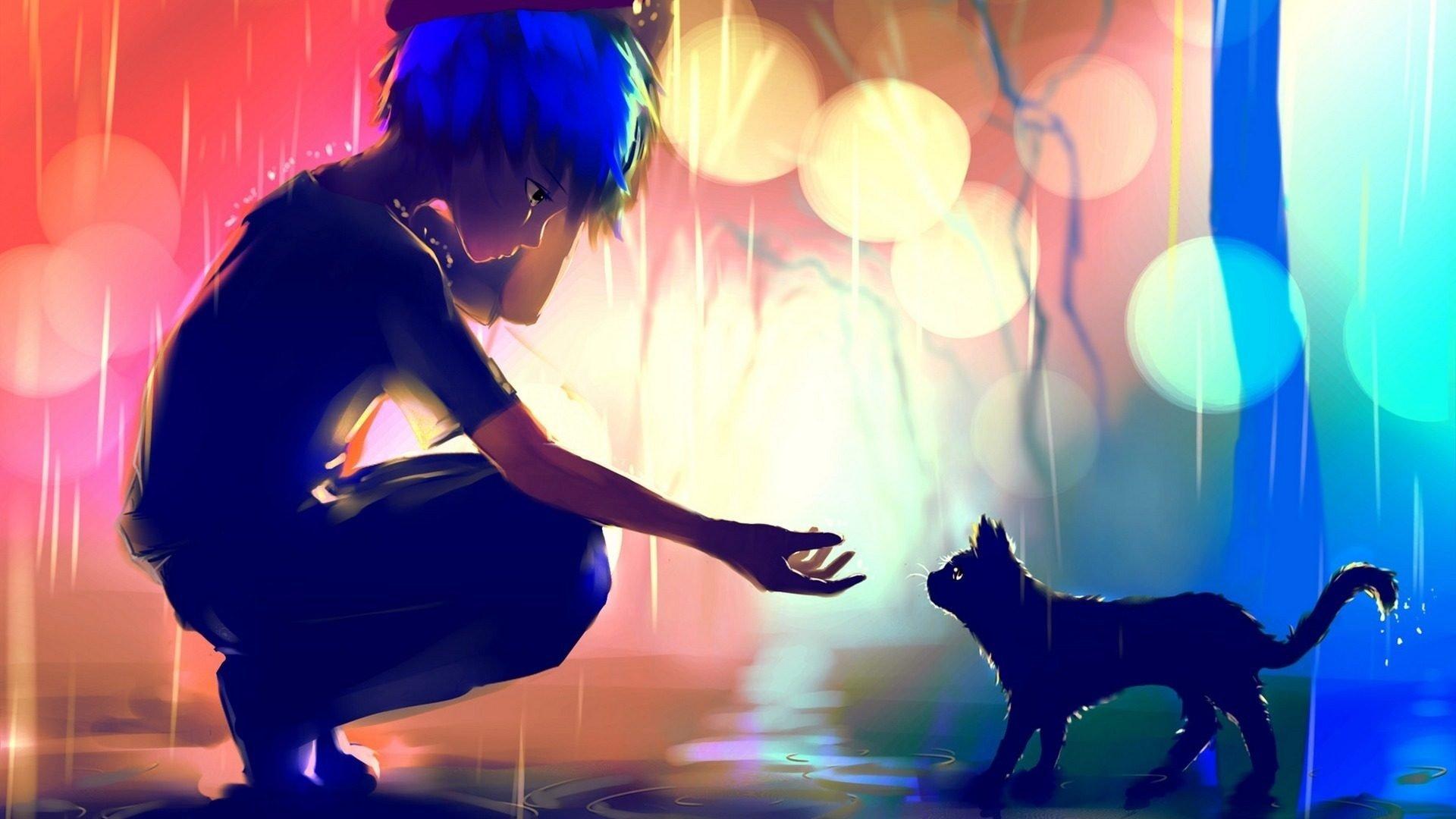 Anime - Original  Rain Cat Boy Original (Anime) Wallpaper