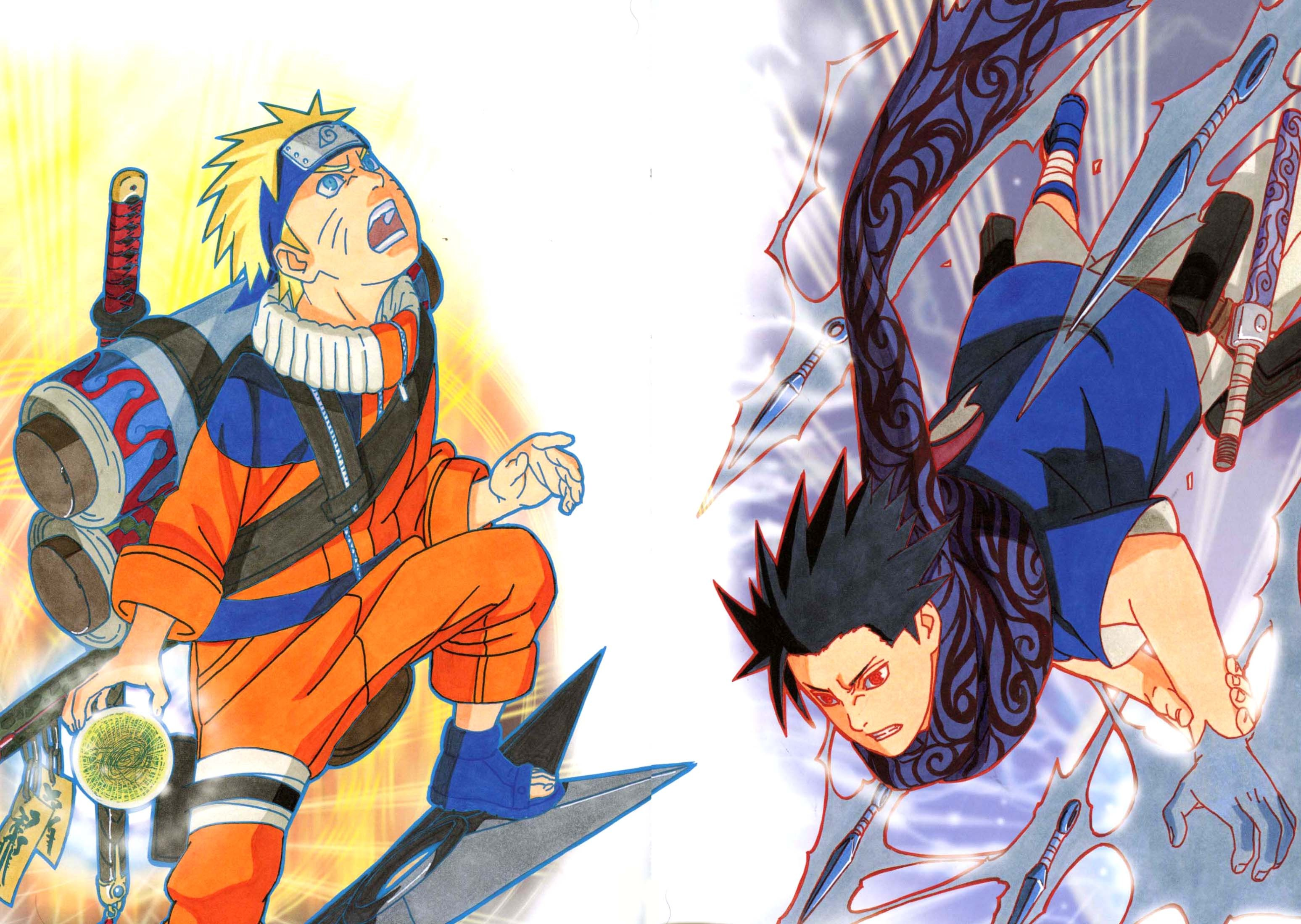 Naruto vs Sasuke Full HD Fond d'écran and Arrière-Plan   3095x2200   ID:486960