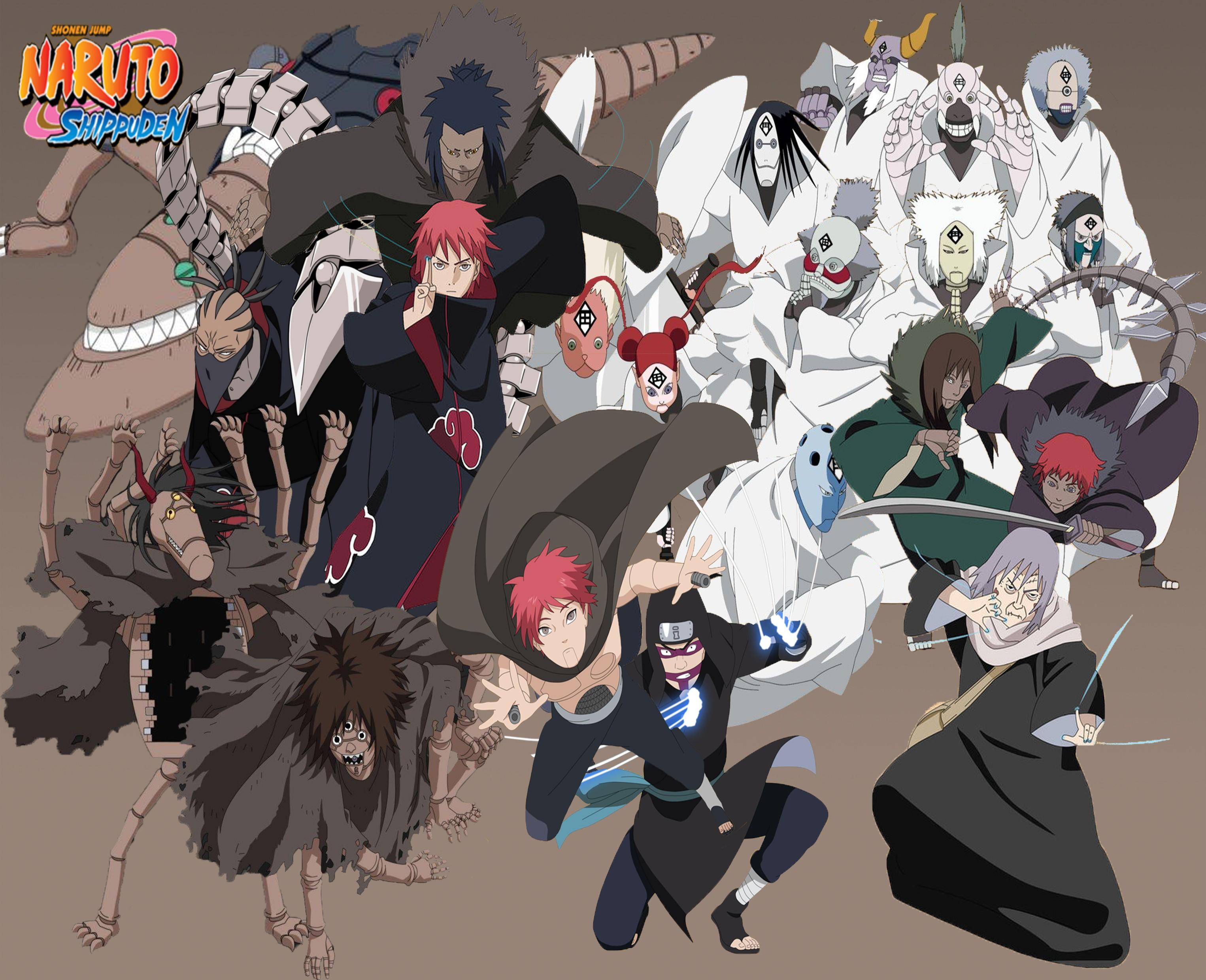 Anime - Naruto Chiyo Kankurō (Naruto) Sasori (Naruto) Wallpaper