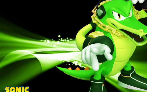 Video Game Mario & Sonic at the Olympic Games Mario Vector the Crocodile HD Wallpaper   Background Image
